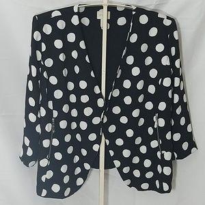 Chico's Black and White Polka Dot Blazer Jacket